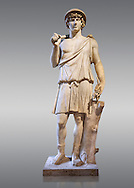 Statue known as Antonius as Aristaeus. Antinous was the young Bithynian favoured by the emperor Hadrian who was deified after drowning under mysterious circumstances in the waters of the Nile circa 130AD. Thanks to the promotion of the cult Antinous portraits can be found throughout the Empire in the places most frequented by Hadrian. This statue was part of the collection of ancient sculptors bought in Rome by Cardinal Richelieu (1585-1642) for his chateau in Poitou. The favourite of the Emperor Hadrian (117-138 AD) Antonius  is depicted here as Aristaeus, a minor Greek God of fruit trees and bee keeping. The Richelieu Collection, Inv No. MR 73 or Ma 5781, Louvre Museum, Paris.