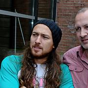 NLD/Amsterdam/20080820 - Persviewing het Schnitzelparadijs, Arne Toonen en regisseur Marco van Geffen