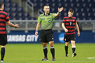 13 December 2015: Referee Chris Penso. The Clemson University Tigers played the Stanford University Cardinal at Sporting Park in Kansas City, Kansas in the 2015 NCAA Division I Men's College Cup championship match. Stanford won the game 4-0.