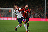 Football - 2017 / 2018 Premier League - AFC Bournemouth vs. Tottenham Hotspur<br /> <br /> Christian Eriksen of Tottenham steps across Bournemouth's Adam Smith to block in way forward at Dean Court (Vitality Stadium) Bournemouth <br /> <br /> COLORSPORT/SHAUN BOGGUST