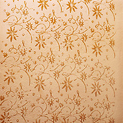 Traditional hand rollered wall in a peasant farmer's home, Maramures, Romania. These patterns are now often replaced by washable emulsion paint.