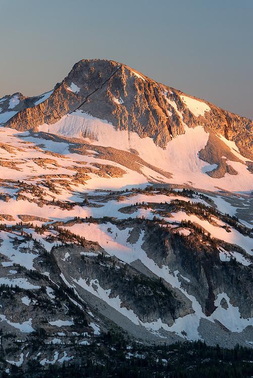 Eagle Cap Peak  at sunset, Wallowa Mountains, Oregon.
