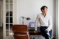 Stefen Ahnhem, författare. Fotograferad i sitt hem på Vesterbrogade i Köpenhamn.