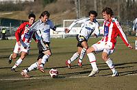 Fotball tipeligaen treningskamp Rosenborg - Tromsø, 23.03.07<br /> Lars Iver Strand, Roar Strand, Daniel Braaten, Tore Reginiussen<br /> Foto: Carl-Erik Eriksson, Digitalsport