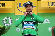 Podium, Peter Sagan (SVK - Bora - Hansgrohe) Green jersey during the 105th Tour de France 2018, Stage 16, Carcassonne - Bagneres de Luchon (218 km) on July 24th, 2018 - Photo Kei Tsuji / BettiniPhoto / ProSportsImages / DPPI