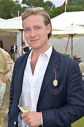 SAM SANGSTER at the Cartier Queen's Cup Polo final at Guard's Polo Club, Smiths Lawn, Windsor Great Park, Egham, Surrey on 14th June 2015
