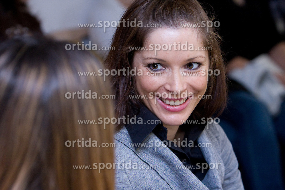 Tanja Prudic when Slovenian athletes and their coaches sign contracts with Athletic federation of Slovenia for year 2009,  in AZS, Ljubljana, Slovenia, on March 2, 2009. (Photo by Vid Ponikvar / Sportida)