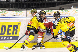 21.03.2017, Eiswelle, Bozen, ITA, EBEL, HCB Suedtirol Alperia vs UPC Vienna Capitals, Playoff, Halbfinale, 4. Spiel, im Bild Dominic Hackl (Vienna Capitals), Riley Holzapfel (Vienna Capitals) // during the Erste Bank Icehockey League, playoff semifinal 4th match between HCB Suedtirol Alperia and UPC Vienna Capitals at the Eiswelle in Bozen, Italy on 2017/03/21. EXPA Pictures © 2017, PhotoCredit: EXPA/ Johann Groder