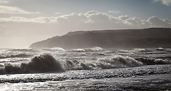 © Licensed to London News Pictures. 30/12/2013. Isle of Wight, UK. Stormy seas off of the Isle of Wight today 30 December 2013 . Photo credit : Rob Arnold/LNP