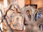 Religious iconography for sale, Rome, Italy.