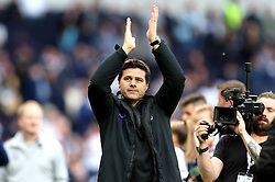 File photo dated 12-05-2019 of Tottenham Hotspur manager Mauricio Pochettino applauds the fans after the final whistle during the Premier League match at Tottenham Hotspur Stadium, London.