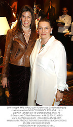 Left to right, MRS WALID JUFFALI she was Christina Estrada and her mother MRS CONSTANCE ESTRADA,  at a party in London on 1st October 2003.PNG 72