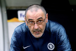 File photo dated 02-05-2019 of Chelsea manager Maurizio Sarri during the UEFA Europa League Semi final, first leg match at The Frankfurt Stadion, Frankfurt.