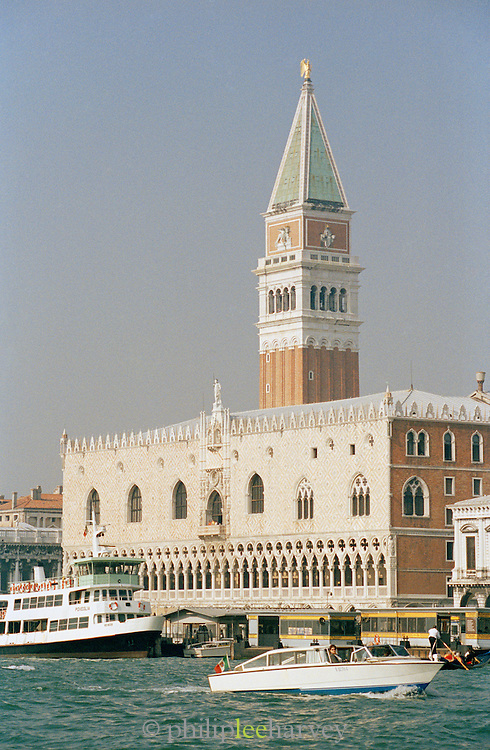 St Mark's Campanile and the Palazzo Ducale di Venezia, Venice, Italy