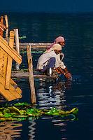Dal Lake in Srinagar, Kashmir, Jammu and Kashmir State, India.
