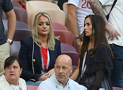 Goalkeeper Jordan Pickford of England's girlfriend Megan Davison, John Stones of England's girlfriend Millie Savage during the 2018 FIFA World Cup Russia Semi Final match between England and Croatia at Luzhniki Stadium on July 11, 2018 in Moscow, Russia. Photo by ABACAPRESS.COM
