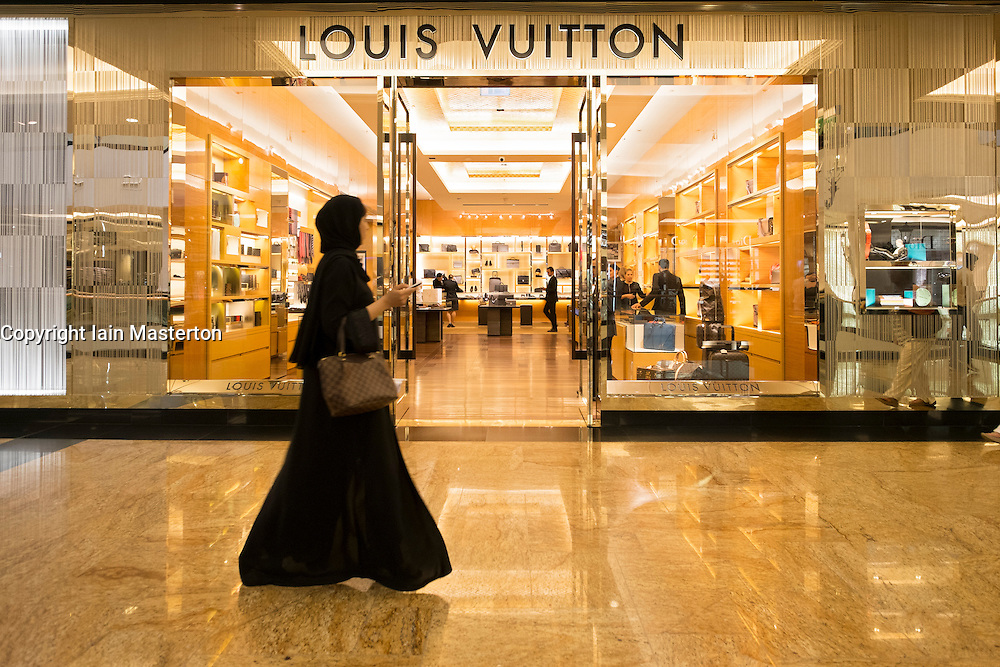 Louis Vuitton store at  Mall of the Emirates shopping centre in Dubai United Arab Emirates