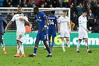 Football - 2017 / 2018 Premier League - Swansea City vs. Chelsea<br /> <br /> Antonio Rüdiger of Chelsea approaches Jordan Ayew of Swansea City with his hand on his shoulder at the end of the game , at the Liberty Stadium.<br /> <br /> <br /> COLORSPORT/WINSTON BYNORTH
