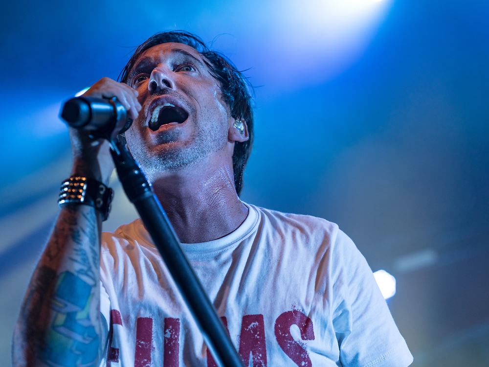 Ben Kowalewicz of Canadian punk rock band Billy Talent playing a multiple sclerosis charity concert at Schlachthof Wiesbaden