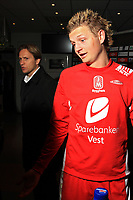Fotball <br /> Tippeligaen<br /> 05.04.2010 <br /> Molde v Brann 3-2<br /> Aker stadion<br /> Erik huseklepp - brann<br /> Steinar nilsen - brann<br /> Foto:Richard brevik Digitalsport