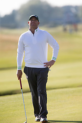 Shane Warne. Players art the 18th, Alfred Dunhill Links Championship at the Championship Course at Carnoustie.