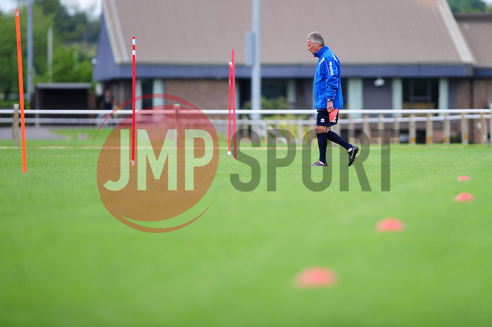 Bristol Rovers' manager, John Ward prepares for training - Photo mandatory by-line: Dougie Allward/JMP - Tel: Mobile: 07966 386802 24/06/2013 - SPORT - FOOTBALL - Bristol -  Bristol Rovers - Pre Season Training - Npower League Two