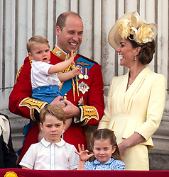 File photo dated 08/06/19 of The Duke and Duchess of Cambridge with their children, Prince Louis, Prince George and Princess Charlotte. George, the eldest son of the Duke and Duchess, will celebrate his sixth birthday on Monday.