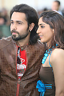 Bollywood actor Emraan Hashmi arriving with an unidentified at the International Indian Film Academy Awards (IIFA) ceremony at the Hallam Arena in Sheffield for the annual IIFA awards. The awards were known as the 'Bollywood Oscars' and ran from 7-10th June. They were watched by an estimated global television audience 500 million people.