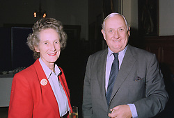 FIELD MARSHAL SIR JOHN & LADY CHAPLE at a party in London on 7th October 1997.MBY 25