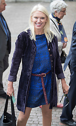 © Licensed to London News Pictures. 27/09/2016.  Anneka Rice arrives for a Service of Thanksgiving for the Life and Work of Sir Terry Wogan at Westminster Abbey. Veteran broadcaster Sir Terry Wogan died in January 2016. The Irish star had a long and successful career at the BBC, including stints on  radio and TV. London, UK. Photo credit: Peter Macdiarmid/LNP