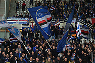 Sampdoria fans celebrate after Gaston Ramirez of Sampdoria scored to level the game at 1-1 during the Serie A match at Stadio Grande Torino, Turin. Picture date: 8th February 2020. Picture credit should read: Jonathan Moscrop/Sportimage