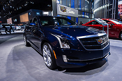 NEW YORK, USA - MARCH 23, 2016: Cadillac ATS on display during the New York International Auto Show at the Jacob Javits Center.