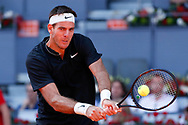 Juan Martin del Potro of Argentina in action during the Mutua Madrid Open 2018, tennis match on May 10, 2018 played at Caja Magica in Madrid, Spain - Photo Oscar J Barroso / SpainProSportsImages / DPPI / ProSportsImages / DPPI