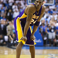 09 June 2009: Kobe Bryant of the Los Angeles Lakers rests during game 3 of the 2009 NBA Finals won 108-104 by the Orlando Magic over the Los Angeles Lakers at Amway Arena, in Orlando, Florida, USA.