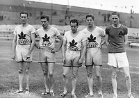 H895<br /> Aonach Tailteann Athletics - Croke Park. Canadian team Athletes. 1928. (Part of the Independent Newspapers Ireland/NLI Collection)