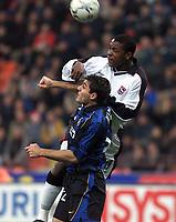 Fotball, Ipswich Titus Bramble and Inter Milan Christian Vieri.<br /><br />Foto: Digitalsport