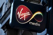 Sign for Virgin Media shop.