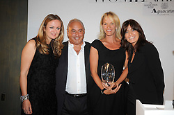 Left to right, LUCY YEOMANS, SIR PHILIP GREEN, ELISABETH MURDOCH and CLAUDIA WINKLEMAN at the Harper's Bazaar Women of the Year Awards 2008 at The Landau, The Langham Hotel, Portland Place, London on 1st September 2008.<br /> <br /> NON EXCLUSIVE - WORLD RIGHTS