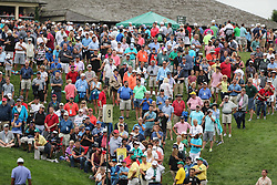 May 30, 2019 - Dublin, OH, U.S. - DUBLIN, OH - MAY 30: Fans watch as Tiger Woods finishes his first round of The Memorial Tournament on May 30th 2019  at Muirfield Village Golf Club in Dublin, OH. (Photo by Ian Johnson/Icon Sportswire) (Credit Image: © Ian Johnson/Icon SMI via ZUMA Press)