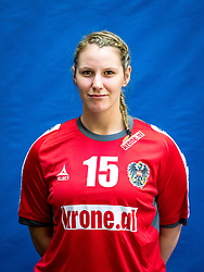 28.05.2016, BSFZ Südstadt, Maria Enzersdorf, AUT, ÖHB, Fototermin Frauen Nationalteam, im Bild Mirela Dedic // during the Team and Portrait Photoshoot of the Austrian women' s handball National Team at the BSFZ Südstadt, Maria Enzersdorf, Austria on 2016/05/28, EXPA Pictures © 2016, PhotoCredit: EXPA/ Sebastian Pucher