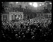U.S. President Barack Obama makes his State of the Union address to a joint session of the U.S. Congress on Capitol Hill in Washington, January 27, 2010. Image shot on a Graflex Pacemaker Crown Graphic 4x5 film camera.