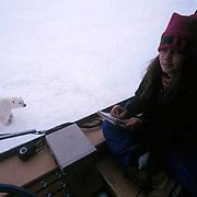 Polar Bear(Ursus maritimus)Sylvia Novotny photographs bears w/Dad dying from cancer. Canada.