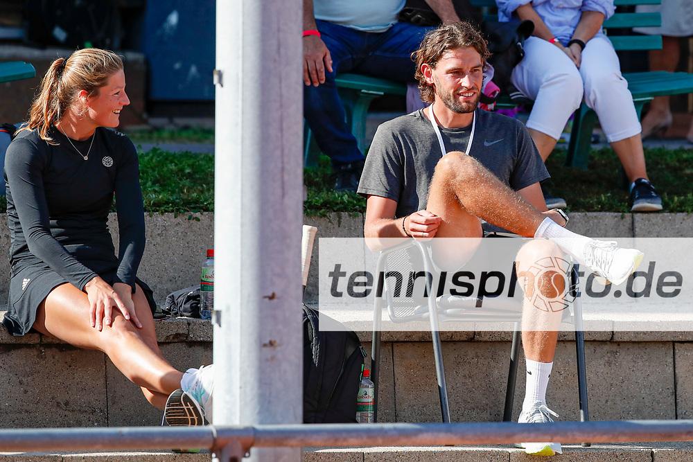 Anna Zaja (GER), Christopher Papdakis (GER) - WTO Wiesbaden Tennis Open - ITF World Tennis Tour 80K, 23.9.2021, Wiesbaden (T2 Sport Health Club), Deutschland, Photo: Mathias Schulz