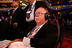 Philadelphia Eagles Video Director Mike Dougherty mans the Eagles Draft table during the first round of the NFL Draft on April 26th 2012 at Radio City Music Hall in New York, New York. (AP Photo/Brian Garfinkel)