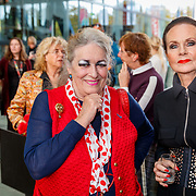 NLD/Hilversum/20181003 - Onthulling Mies Bouwman Totempaal, Martha Röling en Ans Markus