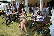 CHARLIE TRABAUD; H. OTAIBI, The Dalwhinnie Crook  charity Polo match  at Longdole  Polo Club, Birdlip  hosted by the Halcyon Gallery. . 12 June 2010. -DO NOT ARCHIVE-© Copyright Photograph by Dafydd Jones. 248 Clapham Rd. London SW9 0PZ. Tel 0207 820 0771. www.dafjones.com.