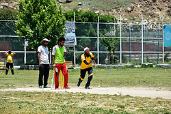 June 30, 2019 - Srinagar, J&K, India - A Kashmiri visually impaired cricket player in action during the match in Srinagar..The first ever blind cricket tournament was organized by J&K Handicapped Association and Disable People's Trust for the visually-impaired players here in Srinagar. The motive behind this tournament is to encourage players to take part in sports events and boost their morals so that they can also make a career in sports. (Credit Image: © Saqib Majeed/SOPA Images via ZUMA Wire)