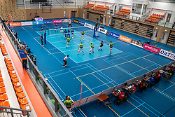 A Covid-19 rule is no spectators and atmosphere during the supercup final between Amysoft Lycurgus - Active Living Orion on October 04, 2020 in Van der Knaaphal, Ede