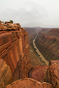 Photograph of the Toroweap Overlook, north side of the Colorado River, Grand Canyon National Park, Arizona, US.