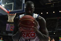 May 31, 2017 - Madrid, Madrid, Spain - Othello Hunter, #21 of Real Madrid pictured during the first game of the semifinals of basketball Endesa league between Real Madrid and Unicaja de Málaga. (Credit Image: © Jorge Sanz/Pacific Press via ZUMA Wire)